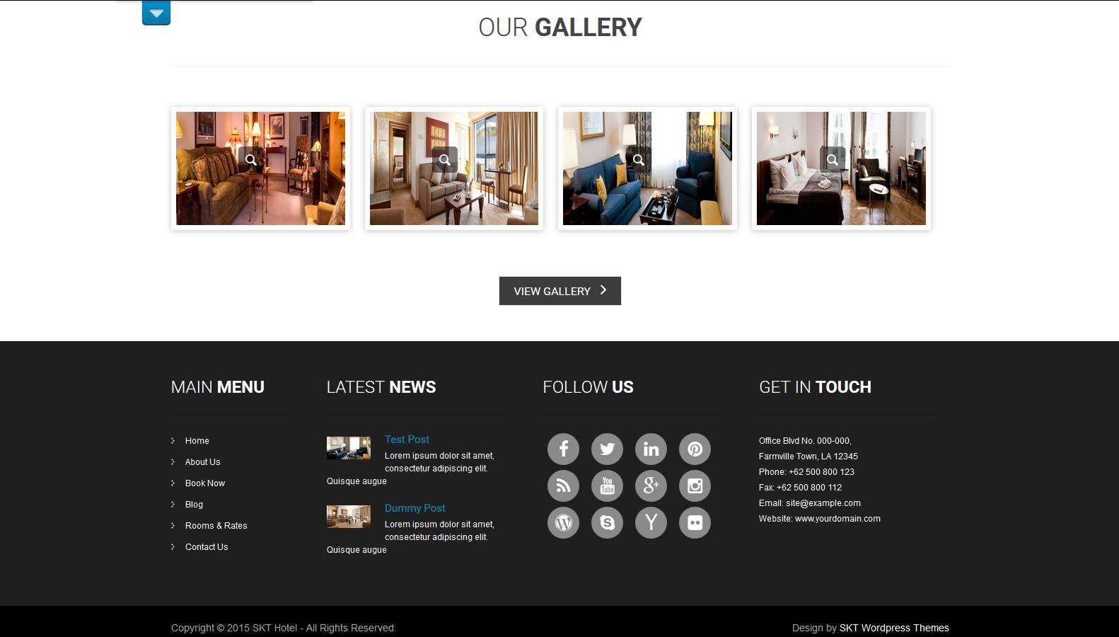 WordPress宾馆主题:SKT Hotel