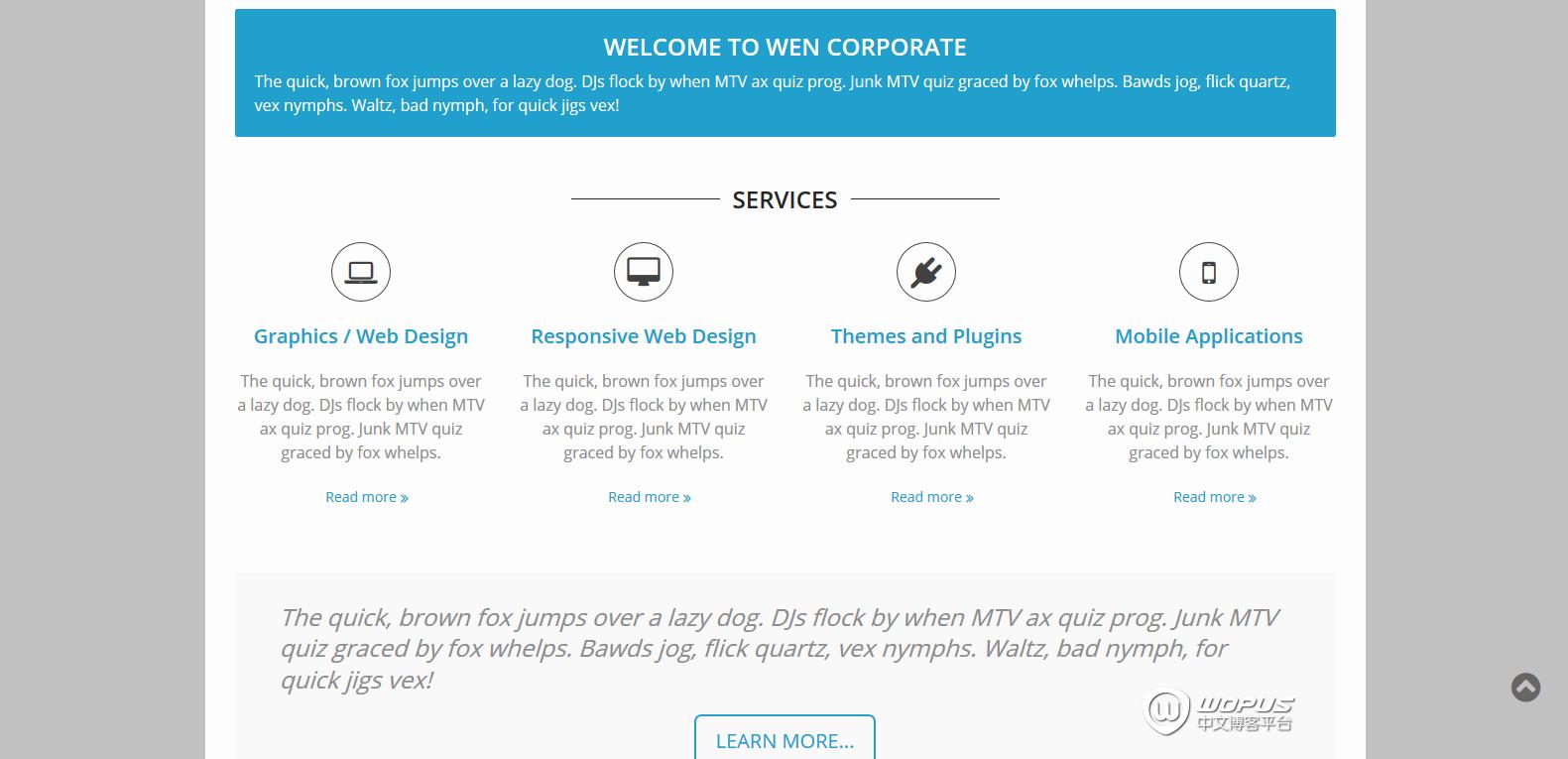 WordPress企业主题:WEN Corporate