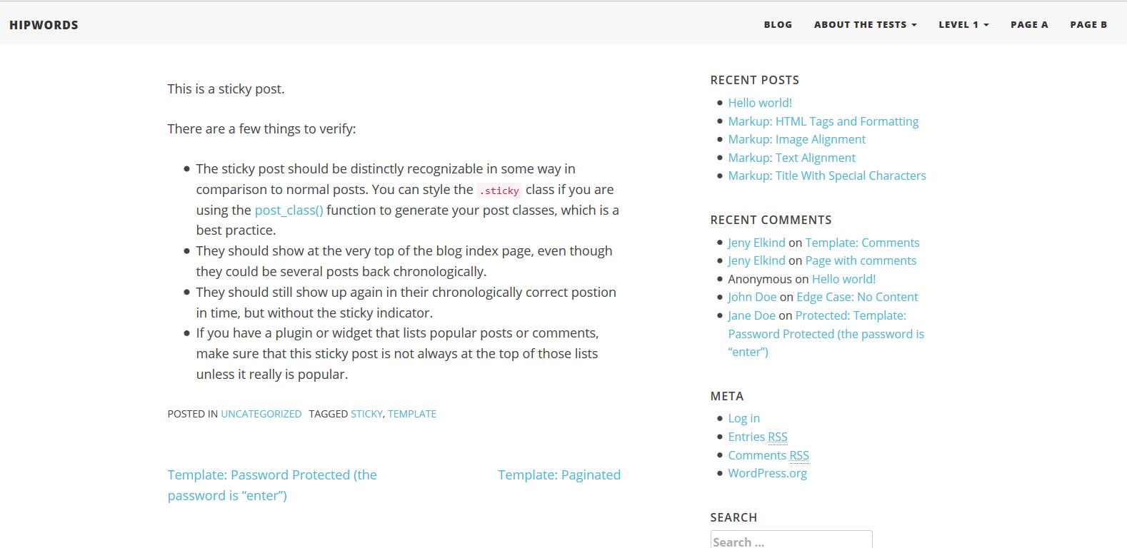 WordPress博客主题:HipWords