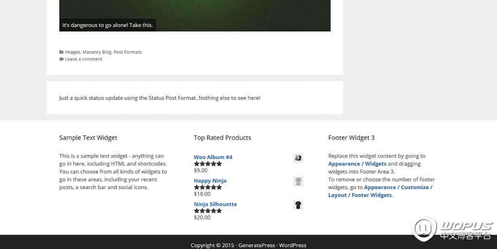 WordPress多用途主题:GeneratePress