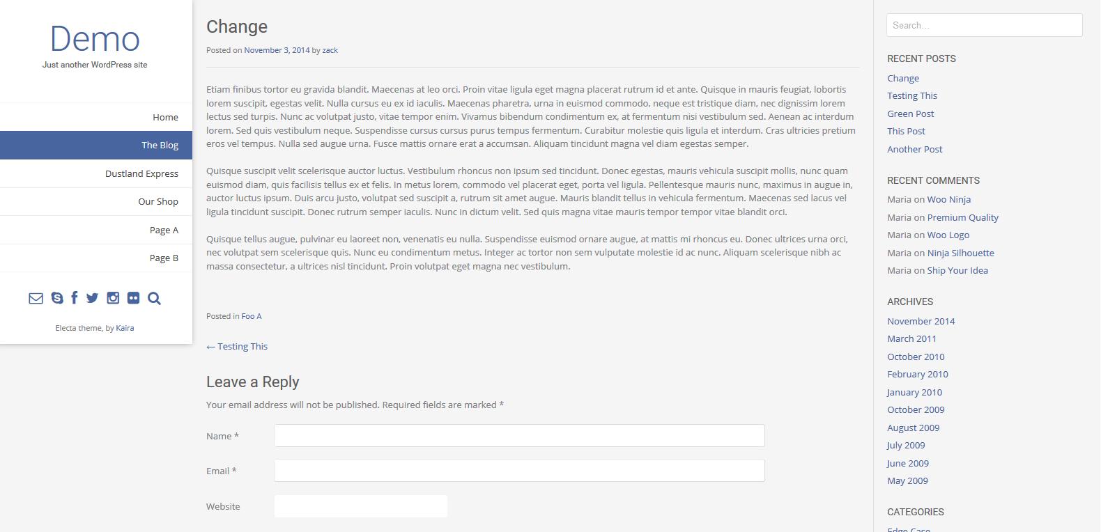 WordPress图片展示主题:Electa