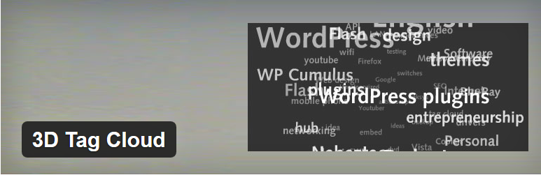 WordPress标签云插件:3D Tag Cloud