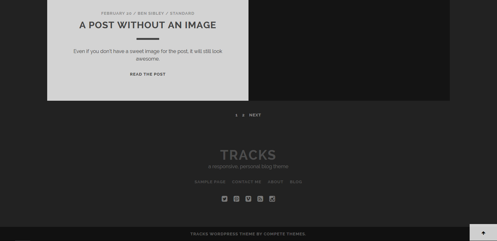 WordPress作品集主题:Tracks
