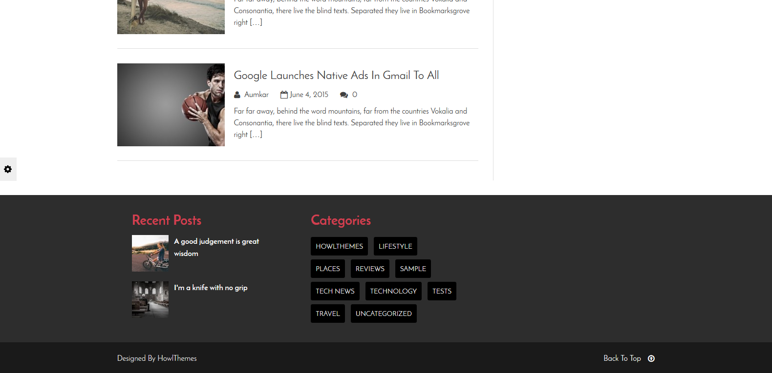 WordPress图片CMS主题:Aqueduct