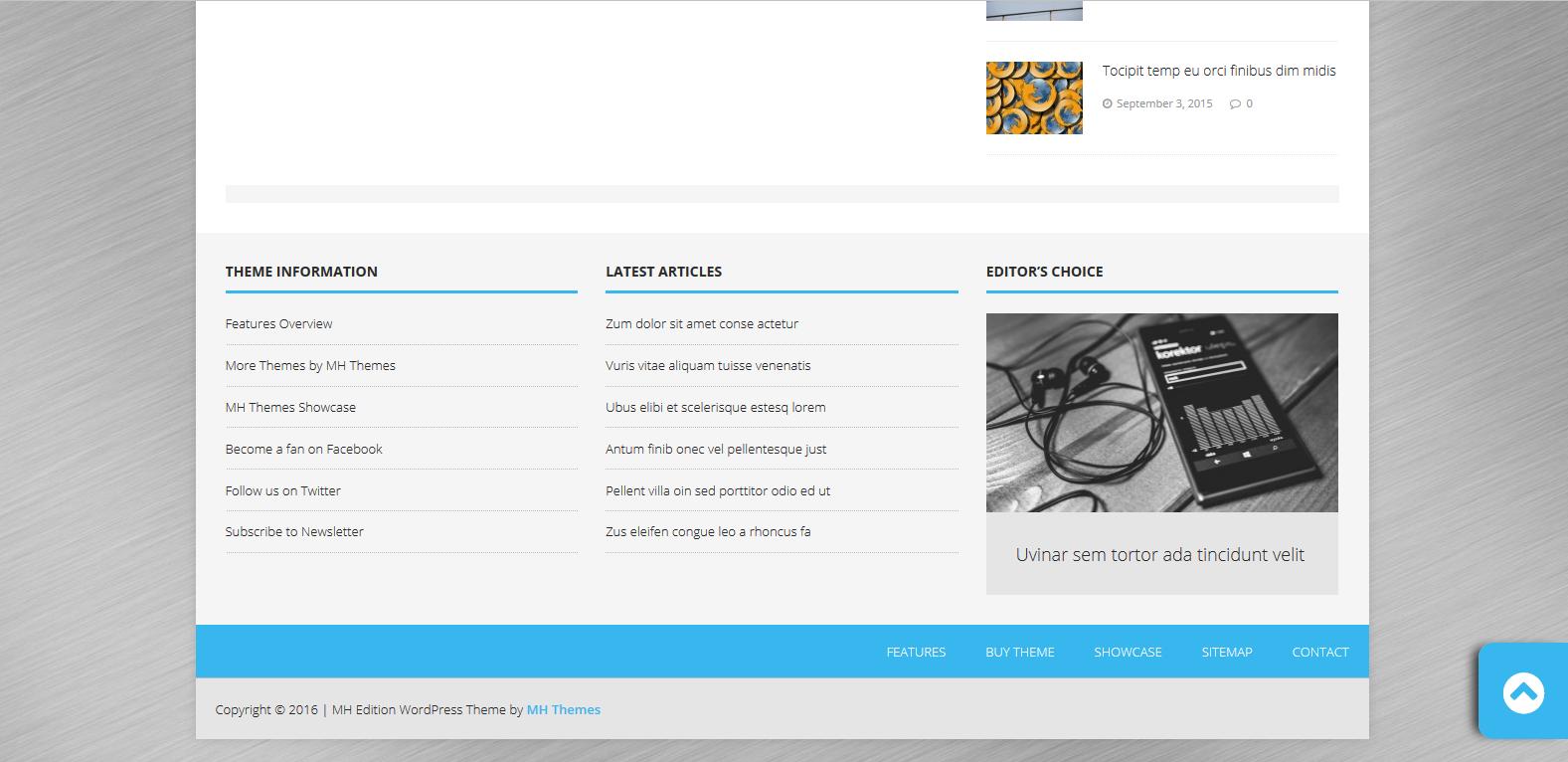 WordPress高级CMS主题:MH Edition lite