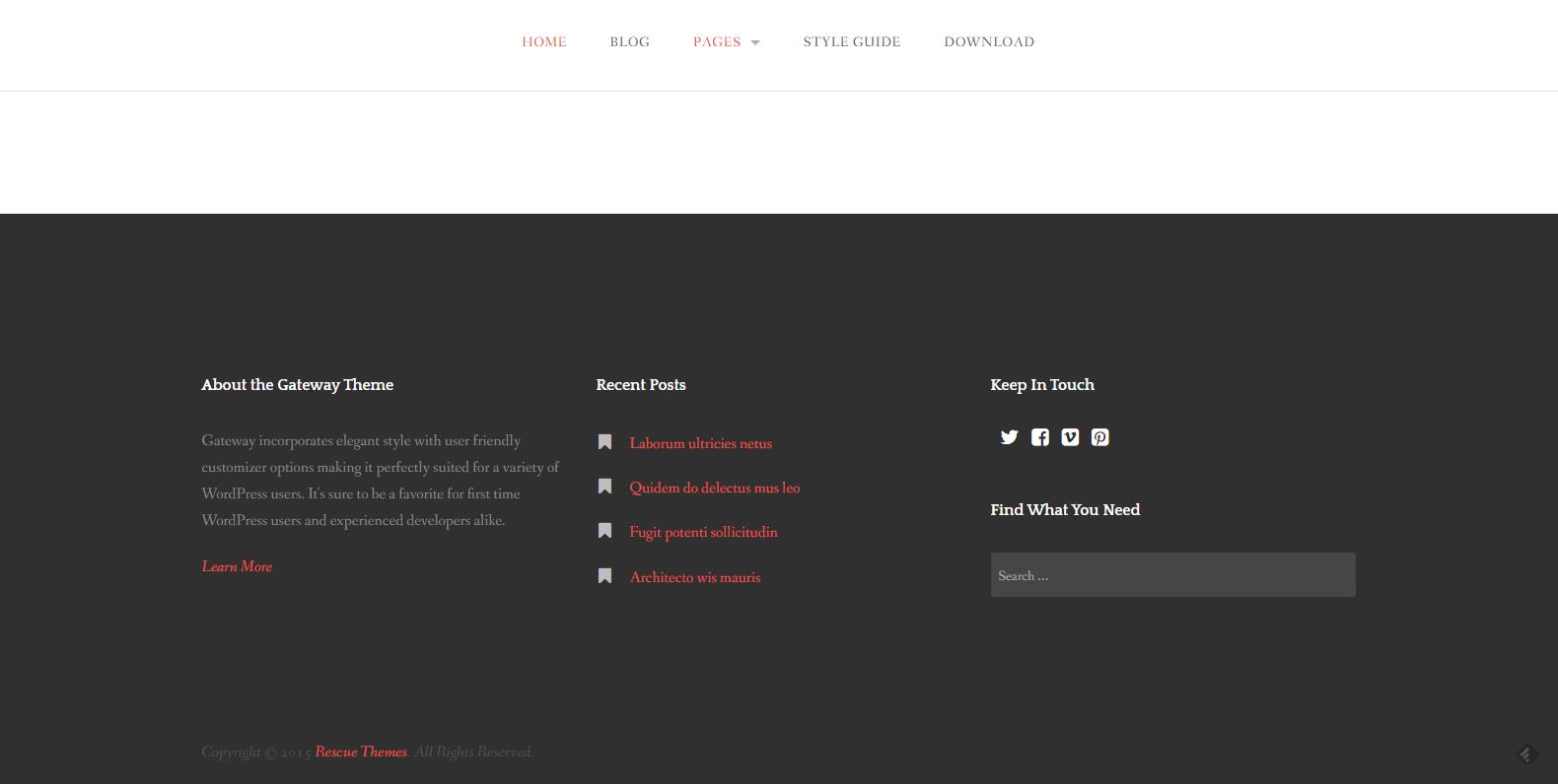 WordPress企业主题:Gateway
