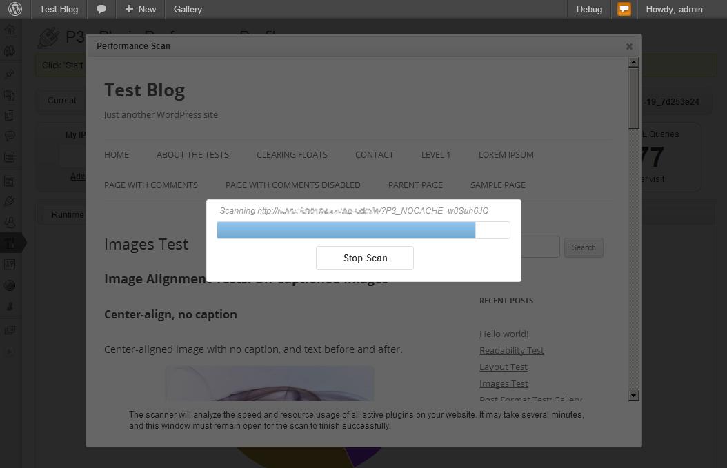 WordPress检测插件速度插件:P3