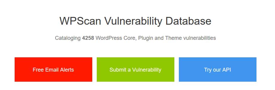 分享:WordPress漏洞数据库网站