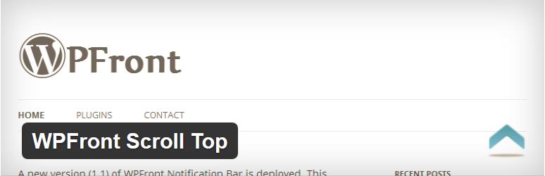 WordPress一键滚回顶部插件: WPFront Scroll Top