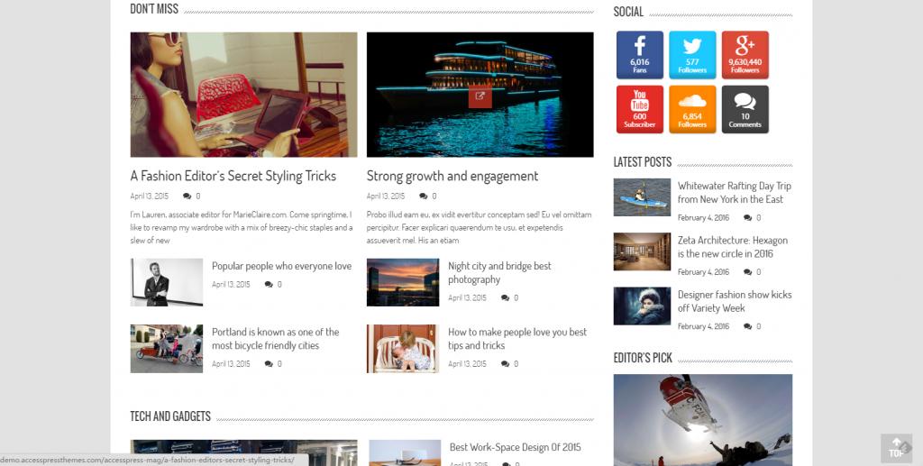 WordPress响应式杂志主题:AccessPress Mag