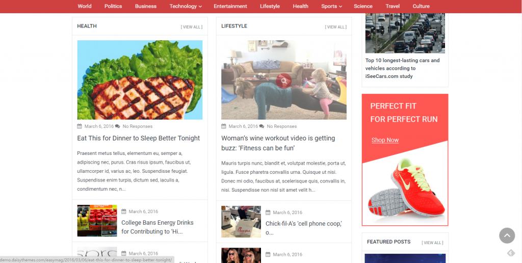 WordPress杂志主题:EasyMag