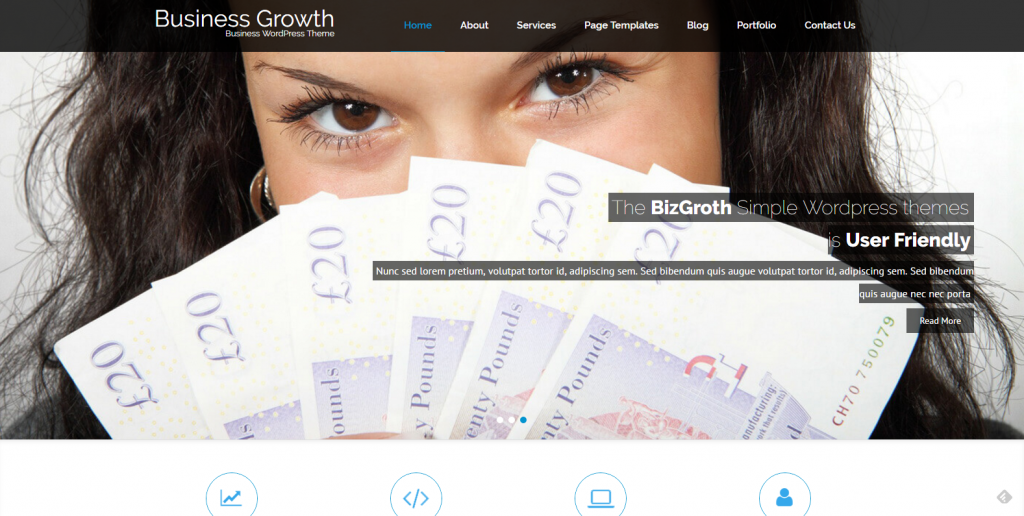 WordPress响应式企业主题:BizGrowth