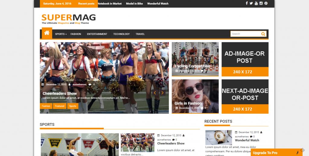 WordPress响应式杂志主题:SuperMag