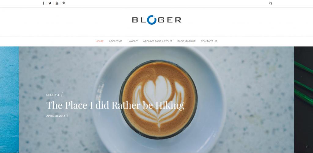 WordPress个人博客主题:Bloger