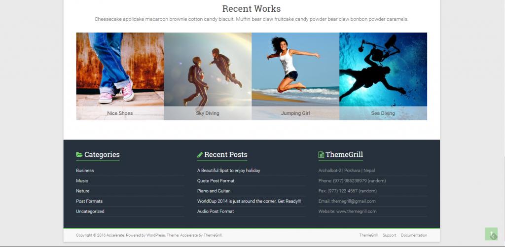 WordPress企业主题:Accelerate