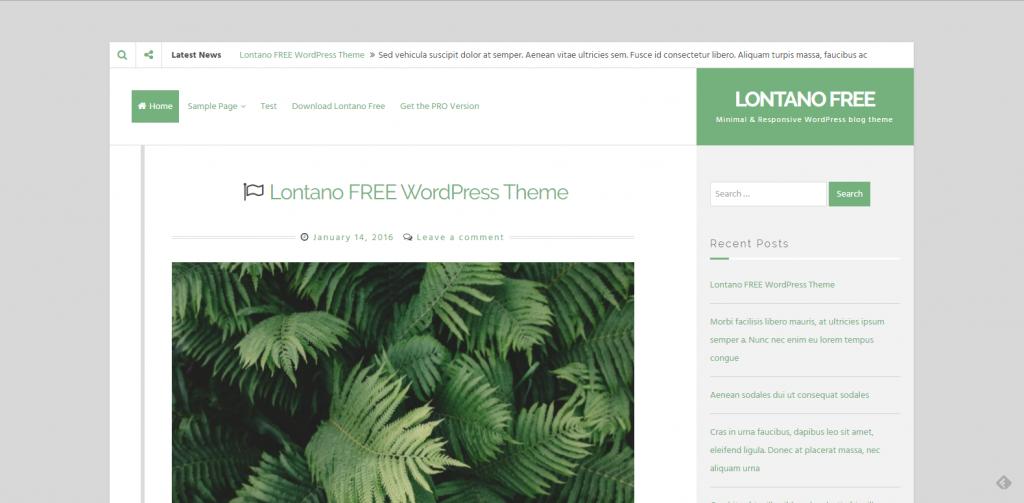 WordPress自媒体主题:Lontano