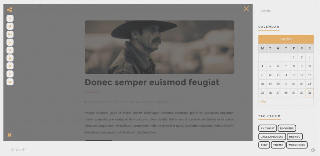 WordPress个人博客主题:Drento
