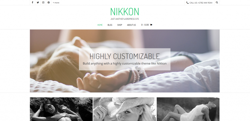 WordPress摄影主题:Nikkon