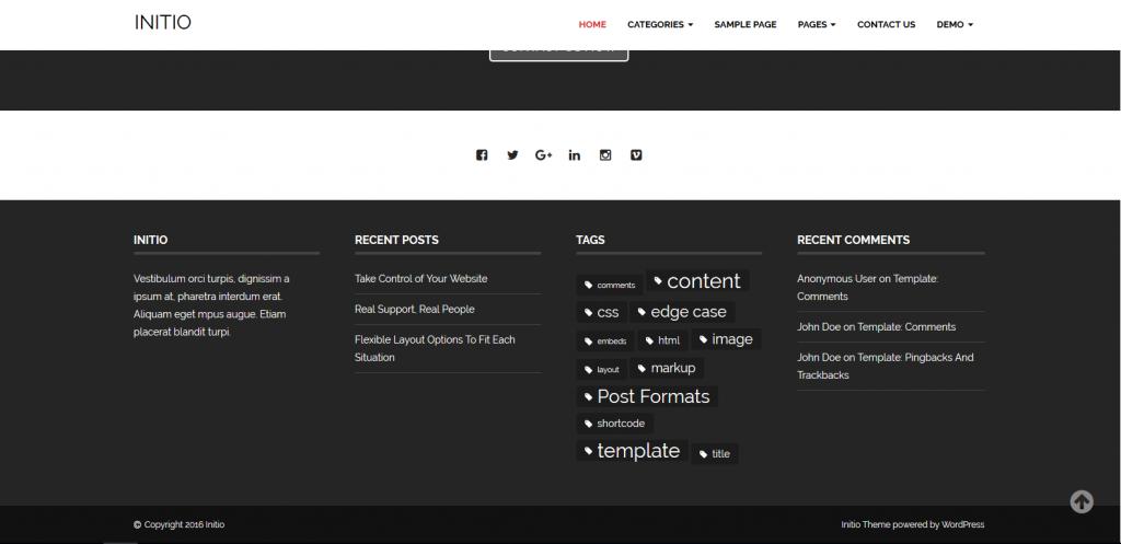 WordPress企业主题:Initio