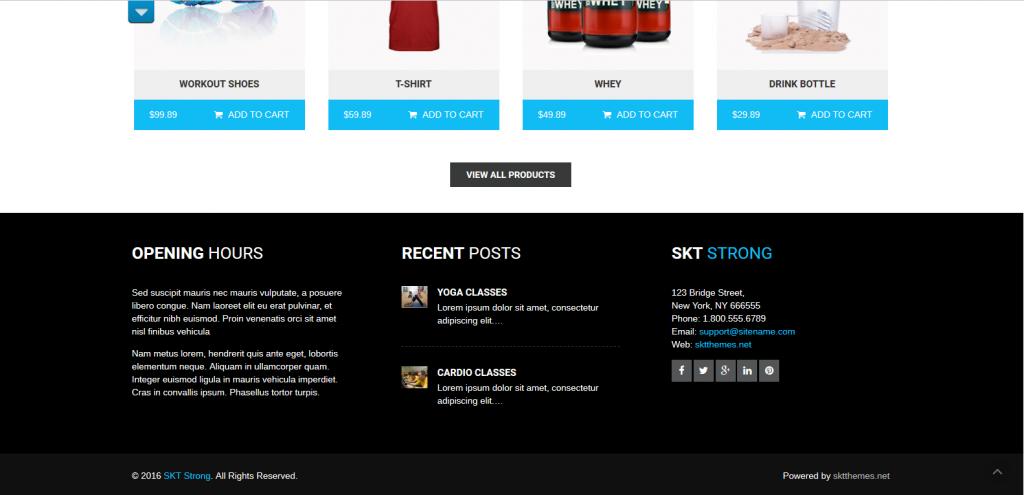 WordPress健身房主题:SKT Strong