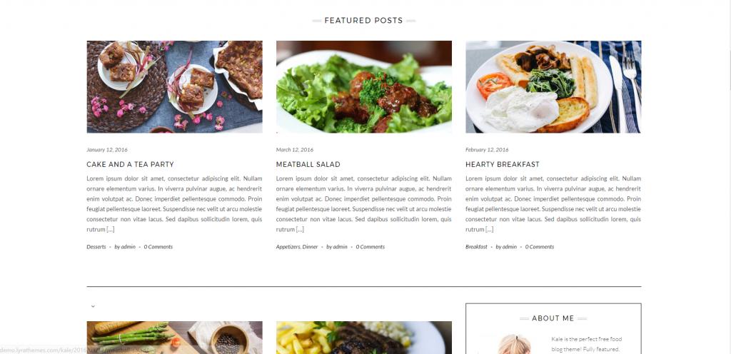 WordPress美食主题:Kale