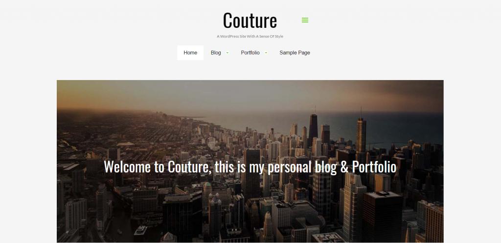 WordPress作品集主体:Couture