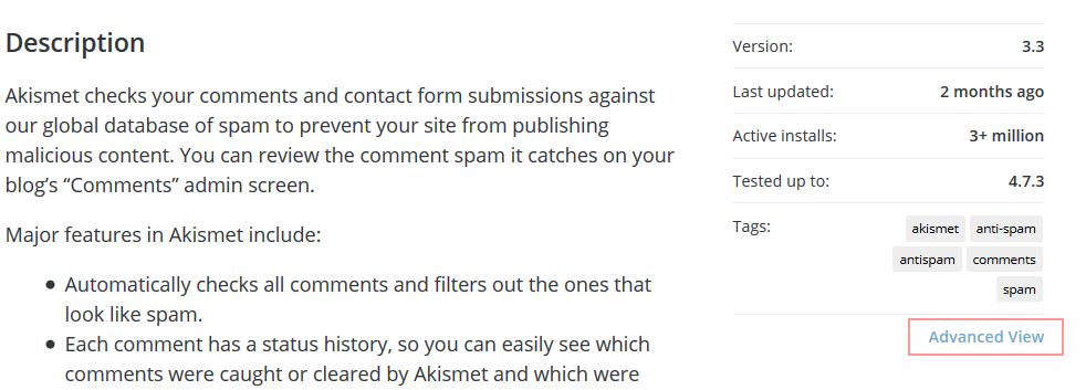 WordPress插件目录增加插件旧版本下载功能