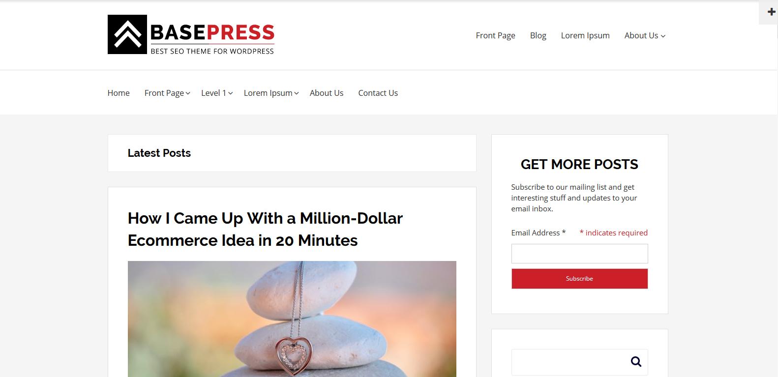 WordPress个人博客主题:BasePress
