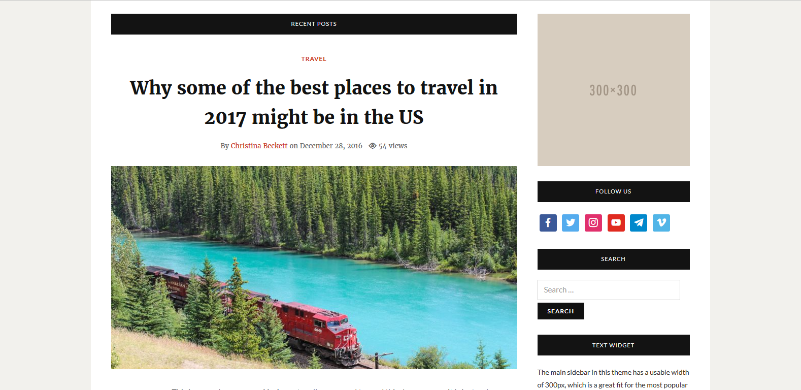 WordPress博客/杂志主题:Telegraph