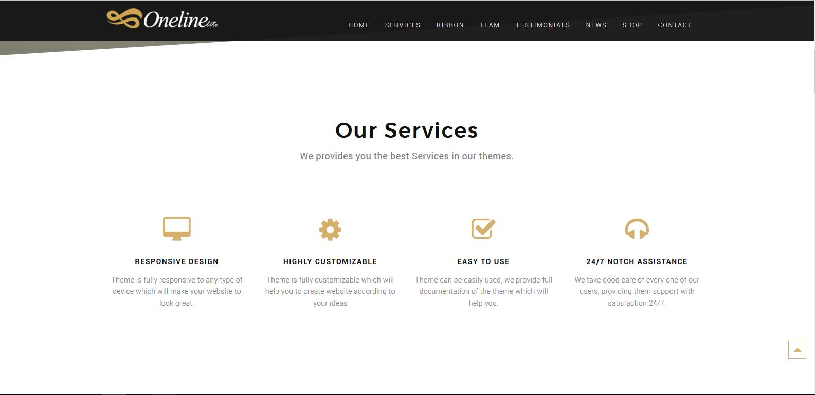 WordPress在线服务企业主题:Oneline Lite