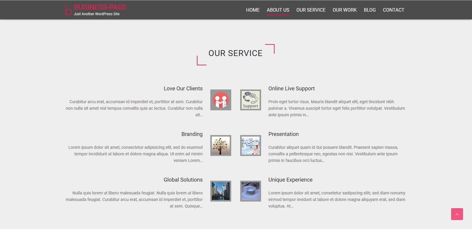 WordPress单页企业主题:Business Page