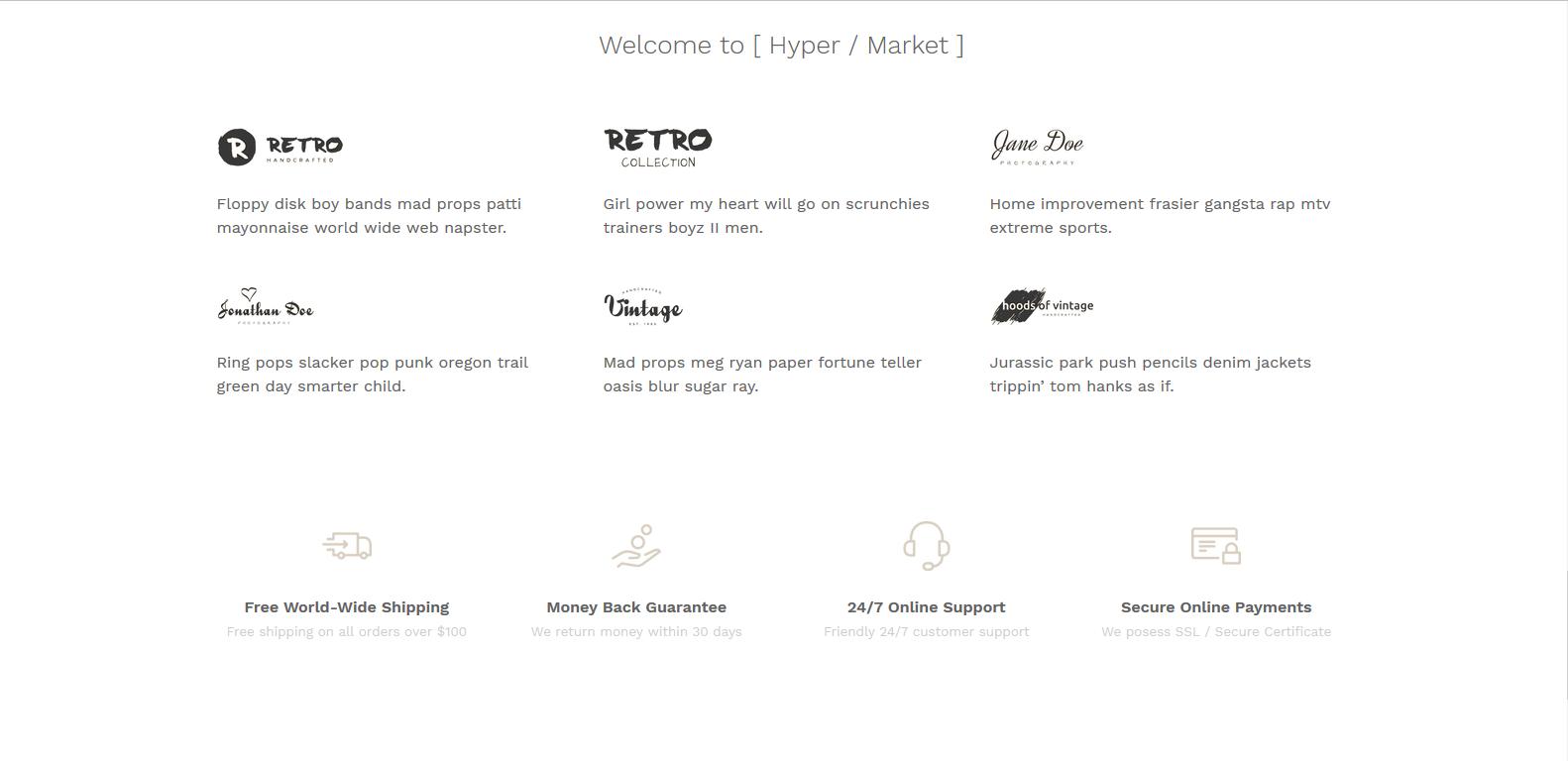 WordPress电子商务主题:Hypermarket