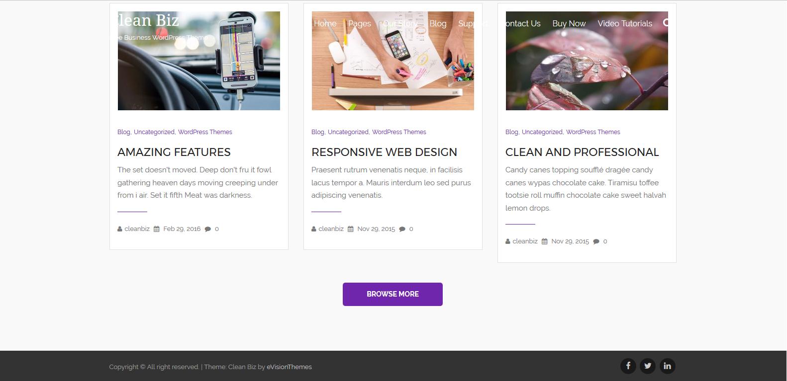 WordPress设计服务主题:Clean Biz