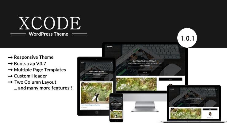 WordPress个人博客主题:xcode