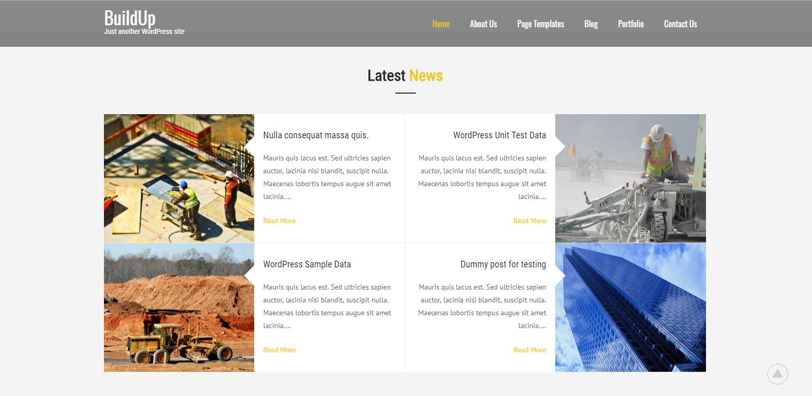 WordPress建筑公司主题:Buildup
