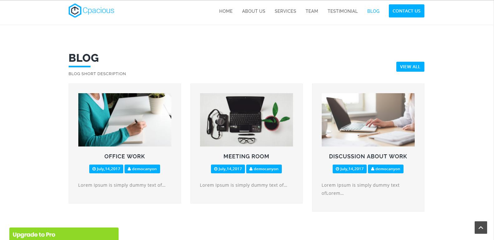 WordPress多用途企业企业主题:Capacious