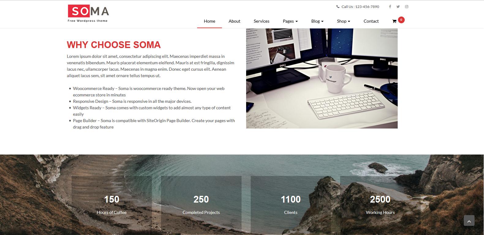 WordPress多功能企业主题:Somalite