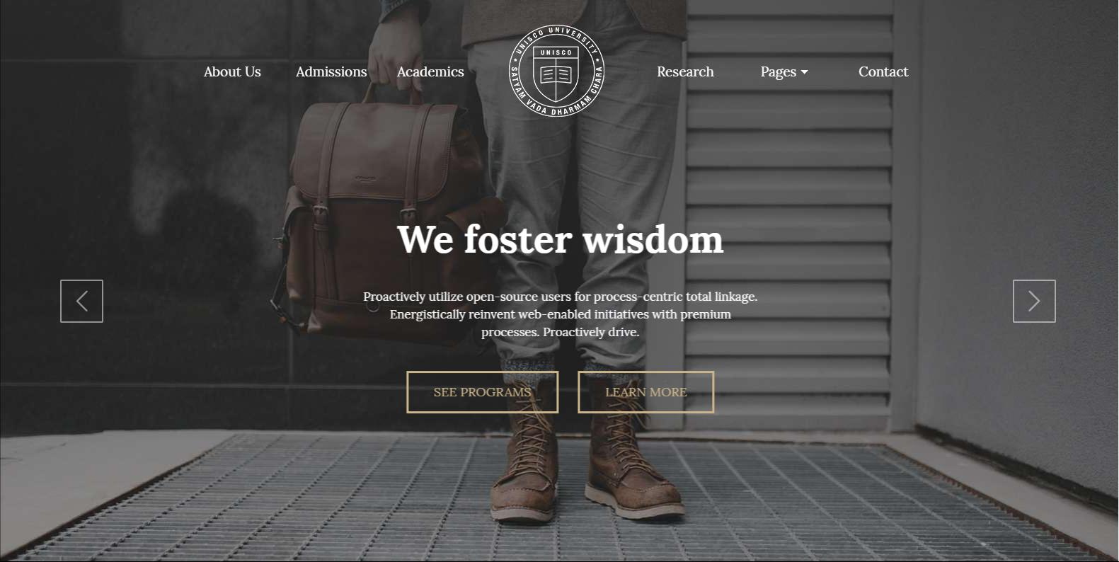 WordPress教育机构主题:UNISCO