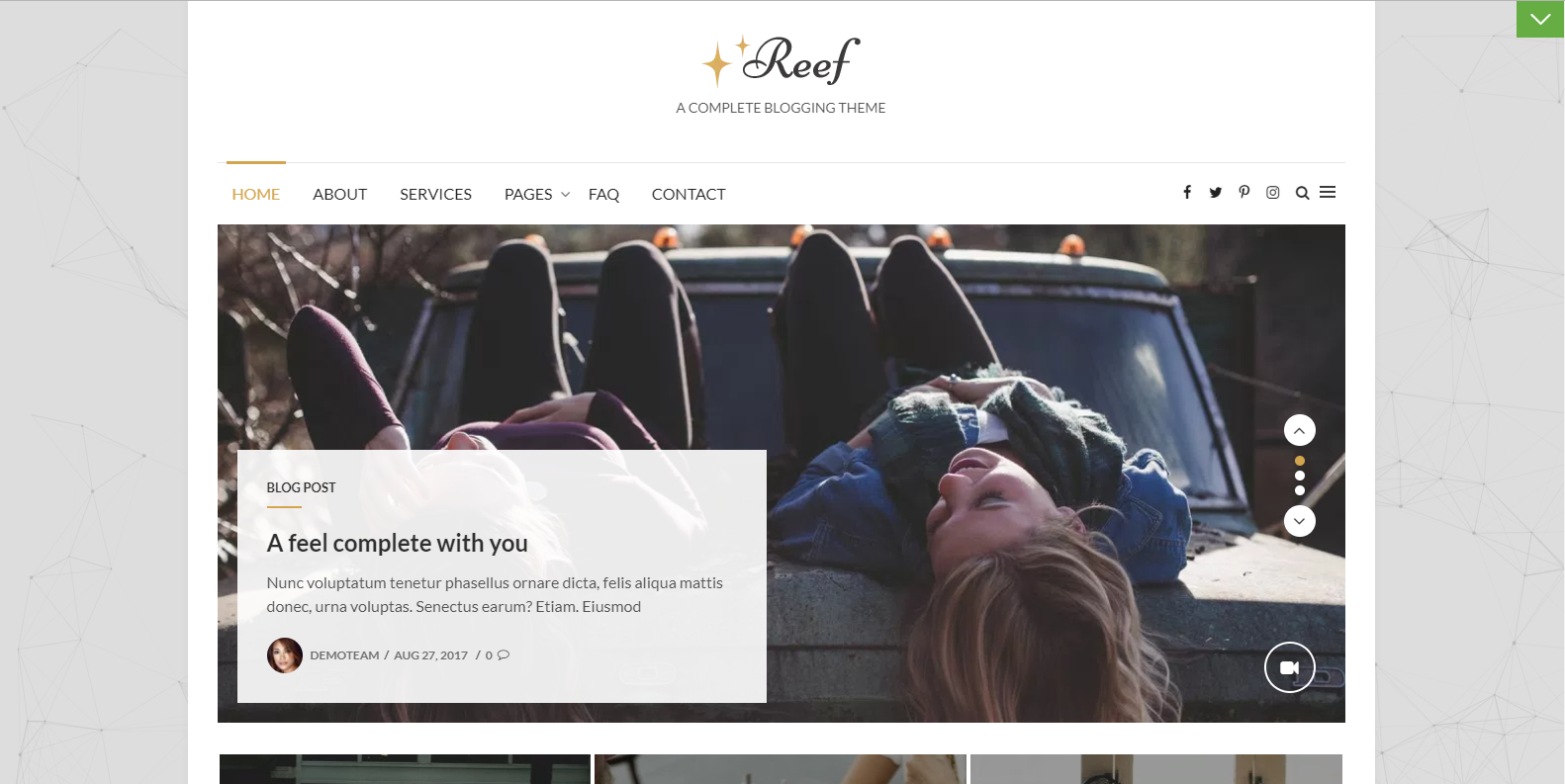 WordPress个人博客主题:Reef