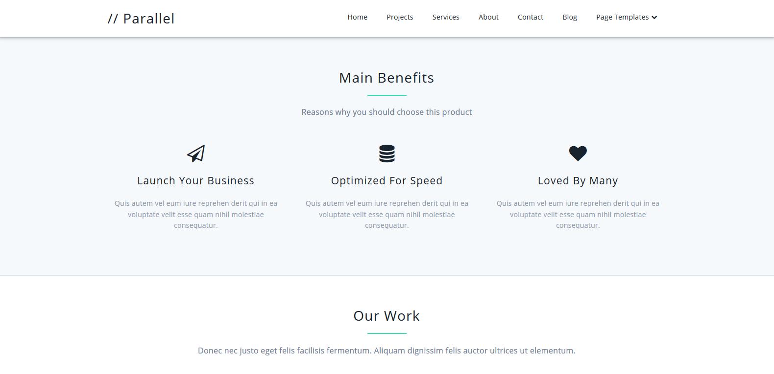 WordPress单页面企业主题:Parallel
