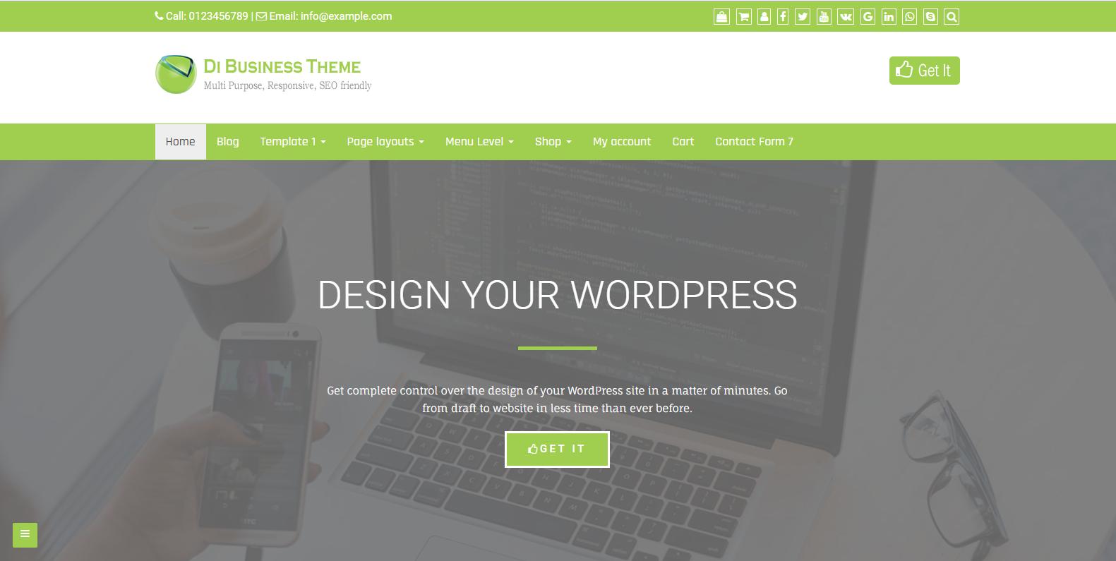 WordPress响应式企业主题:Di Business