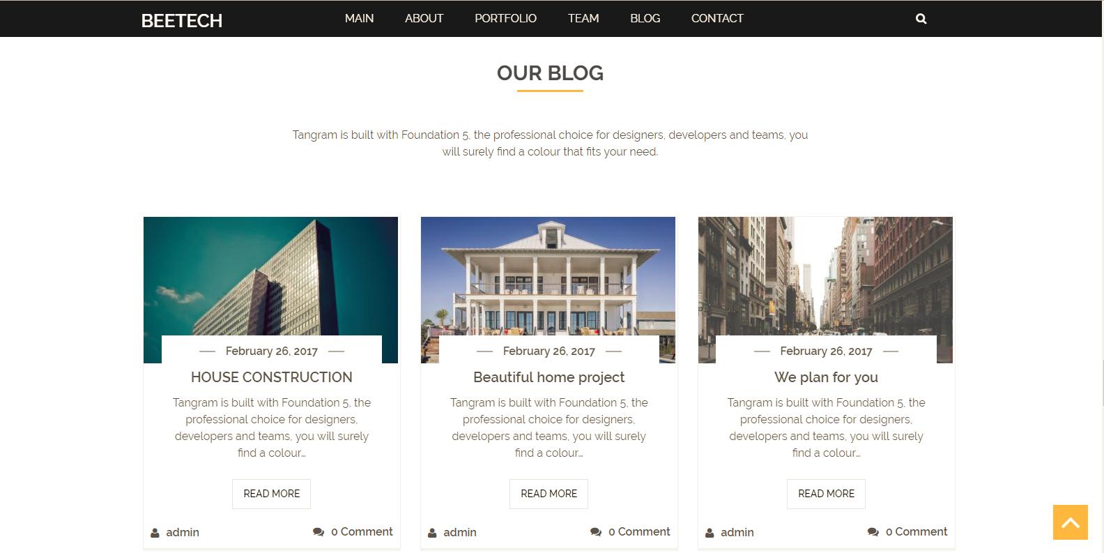 WordPress单页企业主题:Beetech