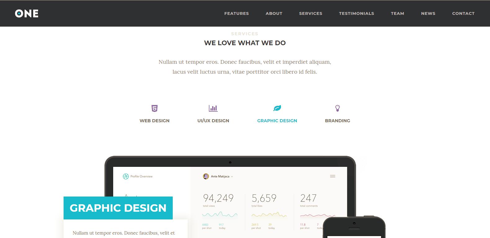 WordPress单页科技主题:Meridian One