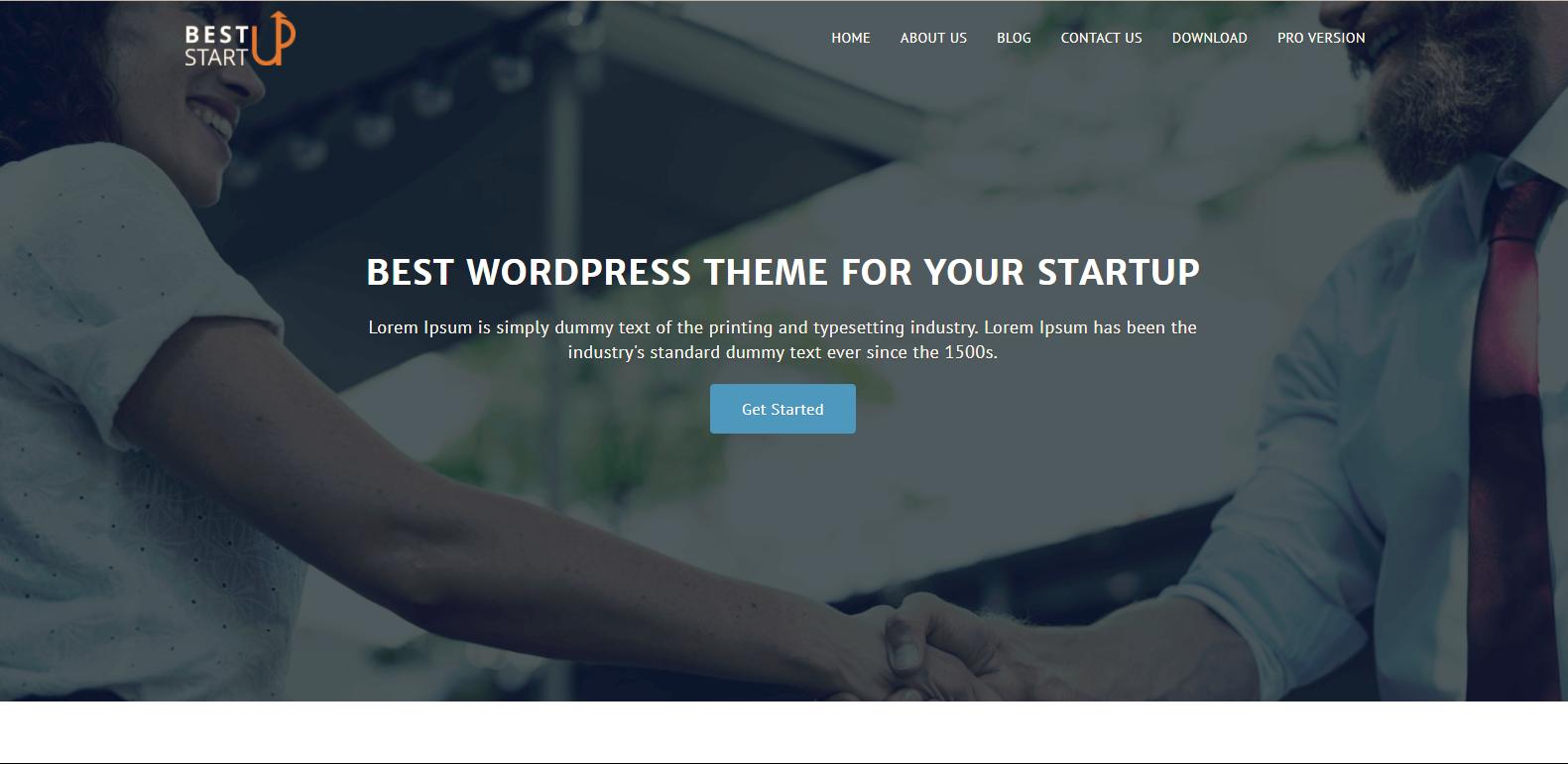WordPress企业主题:Best Startup