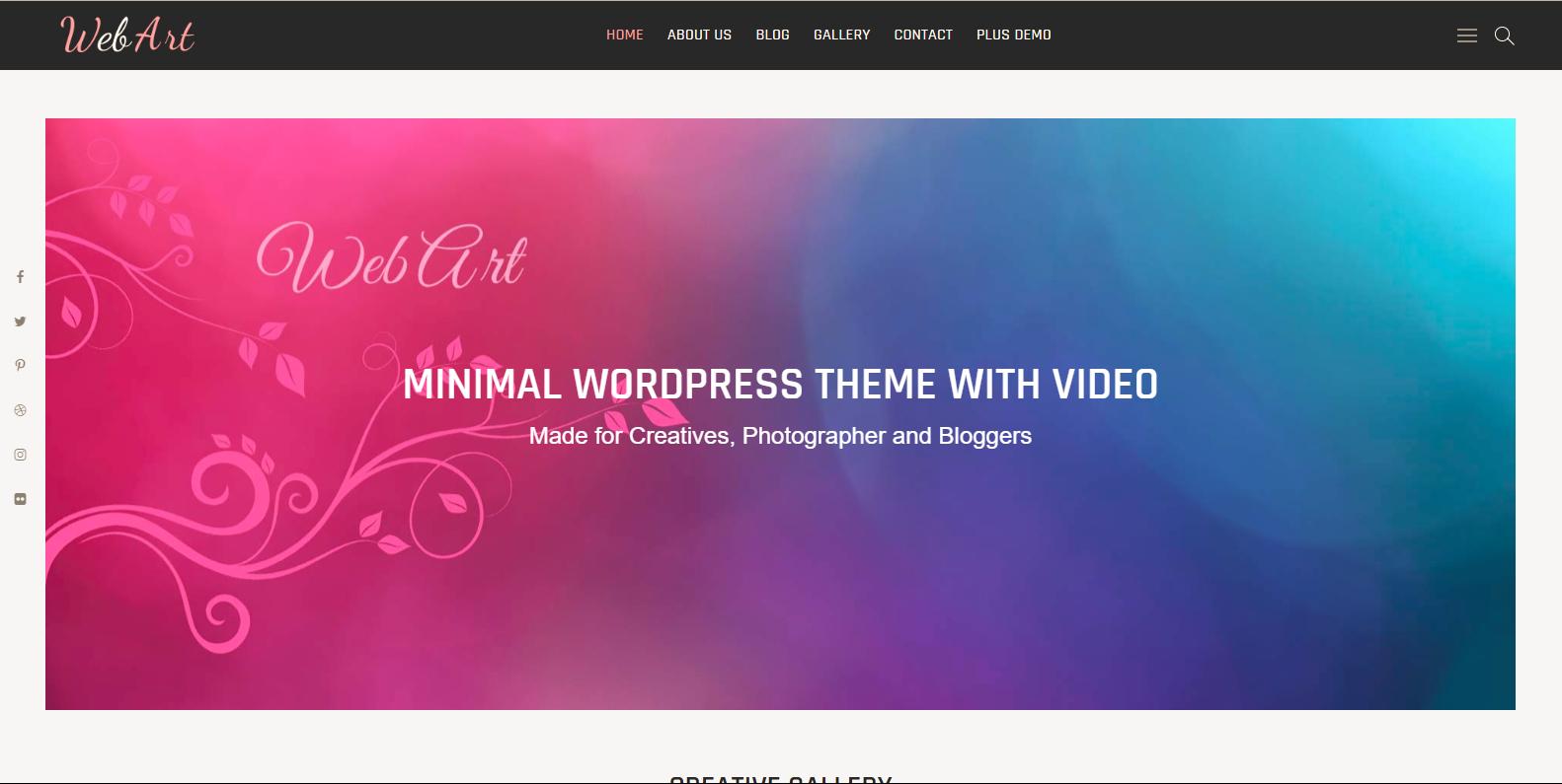 WordPress图片主题:Webart