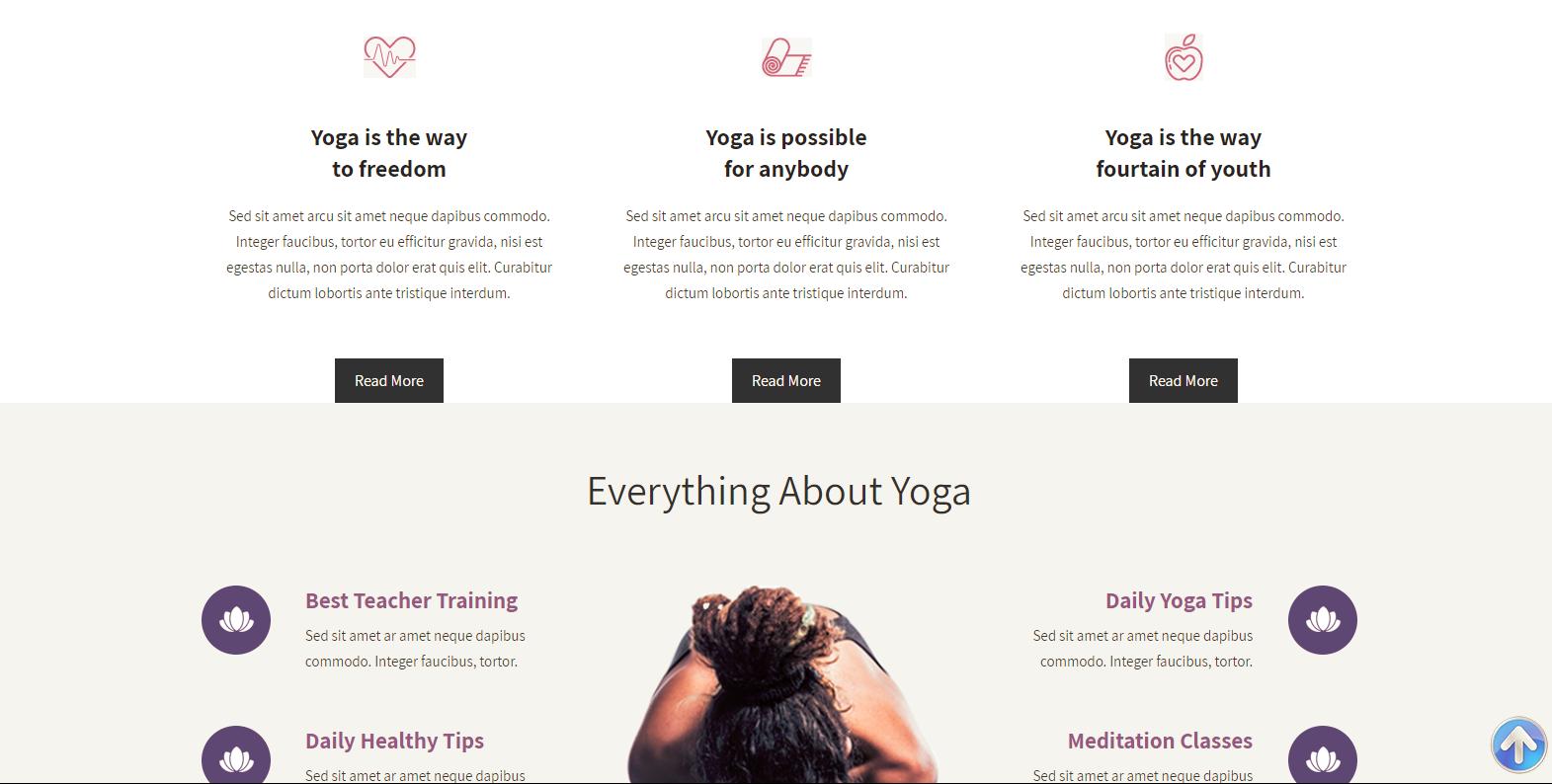 WordPress瑜伽主题:Yogasana Lite