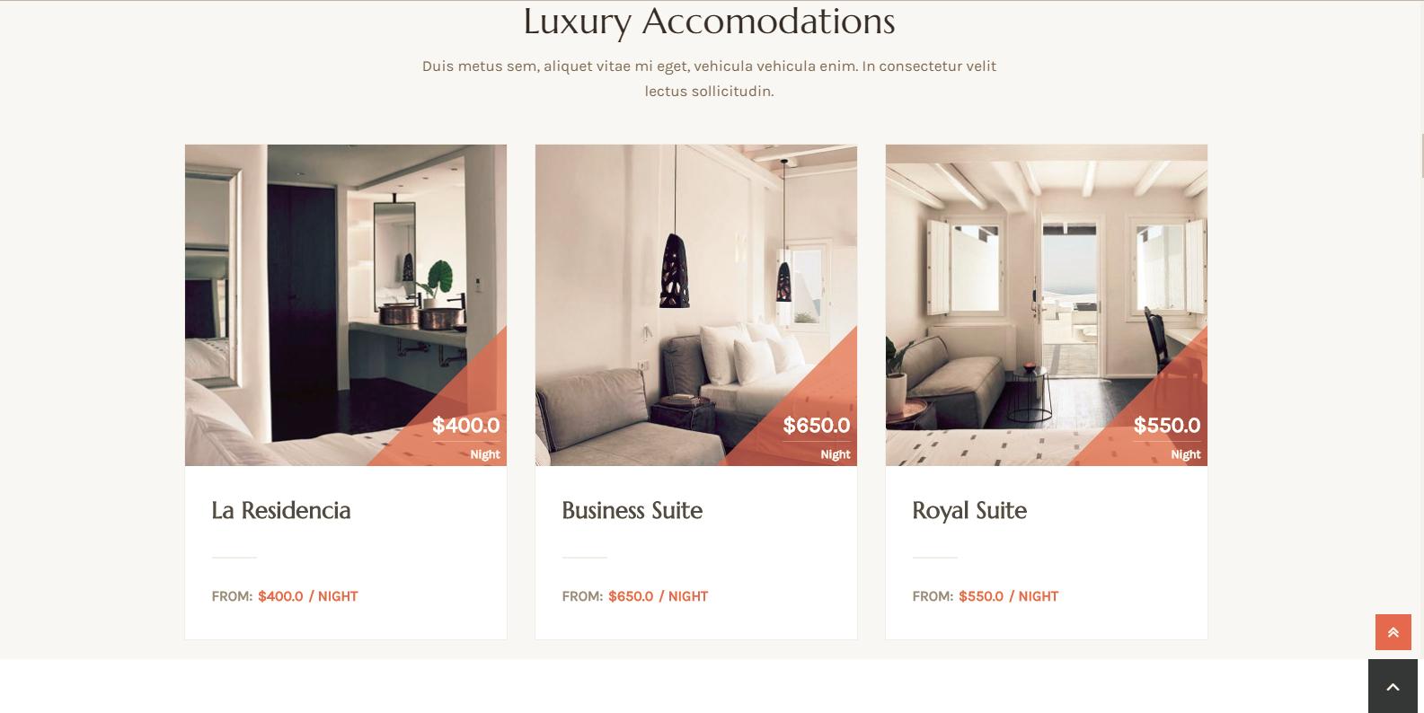 WordPress酒店及度假村模板:Swing Lite
