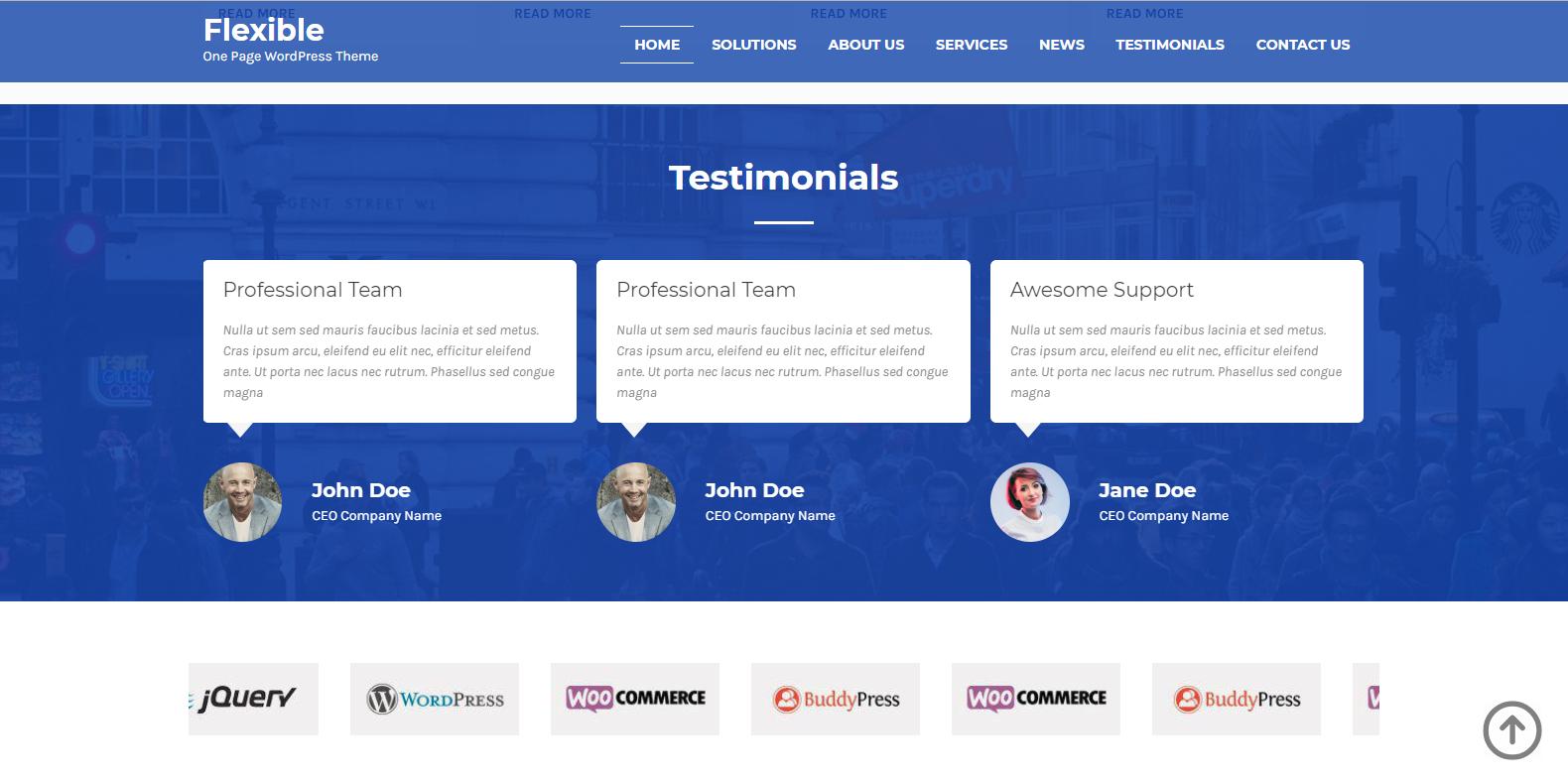 WordPress高质量企业主题:Flexibled