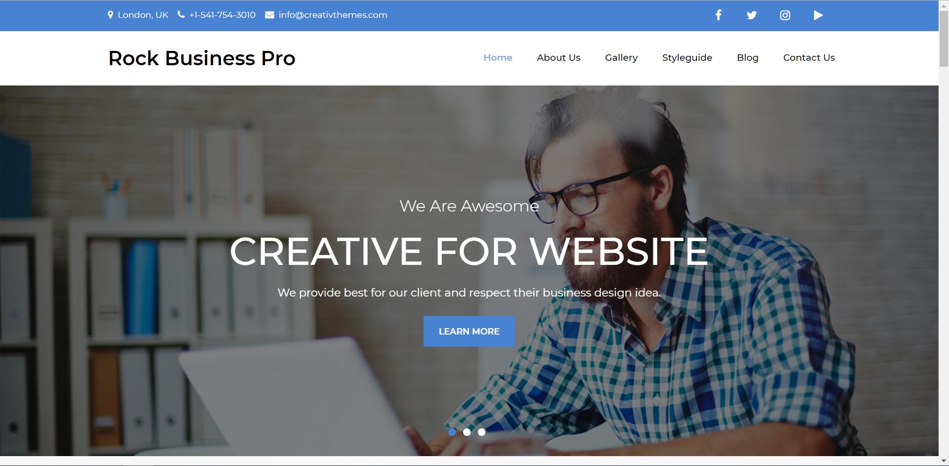 WordPress高质量多功能主题:Rock Business