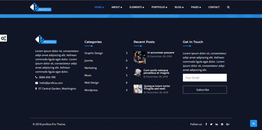WordPress多用途企业主题:Proficia